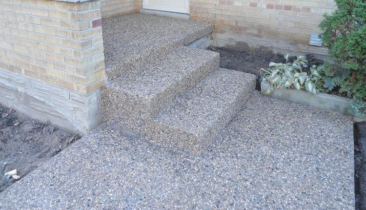 Exposed Aggregate Walkway, Steps, Kitchener Waterloo