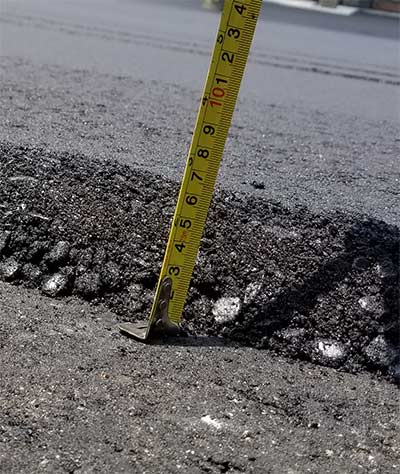 Asphalt Thickness Measurement